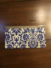 white and blue floral leather coin purse Washington, 20009