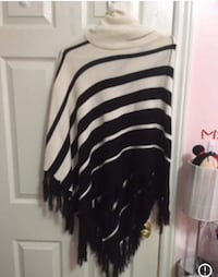 white and black striped long-sleeved dress 616 km