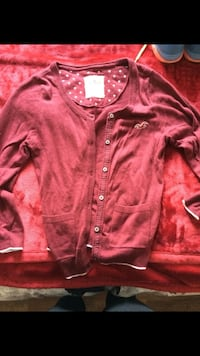 Red hollister button-up cardigan London, N6A 6H6