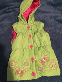 Toddler's green and pink floral winter vest Hamilton, 31811