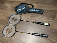 Badminton rackets x 2 with carrying case Toronto, M2J 0E1