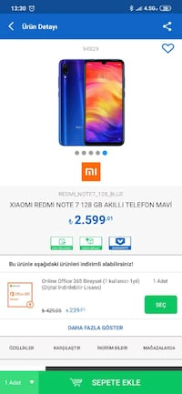 Xiamio Redmi Note 7 128GB Gültepe, 58080