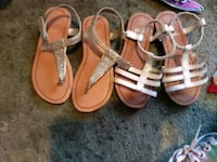 two pairs of white and brown sandals Bakersfield, 93309