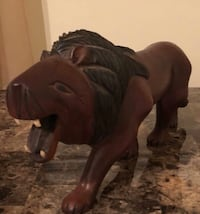 Hand carved wooden loin Fort Washington, 20744