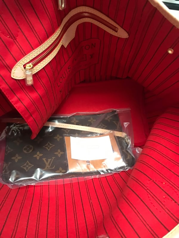 Never-full tote with red interior fb5721ff-fb5a-406d-a523-31efe1bd4798