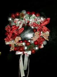 Handmade Christmas bulb wreath Fall River, 02720