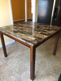 brown wooden framed marble top table Grovetown, 30813