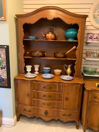 Stunning french provincial solid wood china hutch curio buffet bookcase Kensington, 20895