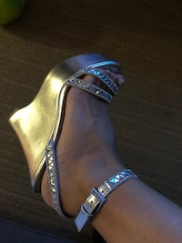black and brown leather open toe sandals Calgary, T3H