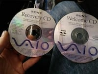 two Sony VAIO recovery and welcome discs Reserve, 70084