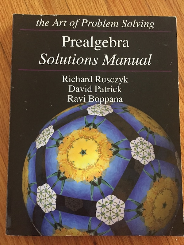 AOPS prealgebra text and solution books