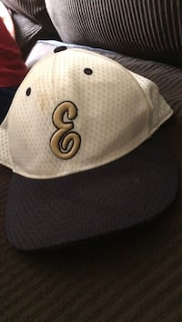 White and black fitted cap Hedgesville, 25427