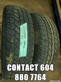 im selling two 235/75R15 all season Nokian tires  Port Coquitlam