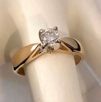 14k gold .25ct. diamond solitaire engagement ring *Compare at $1,400