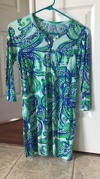 Lily Pulitzer green and blue dress Franklin, 37064