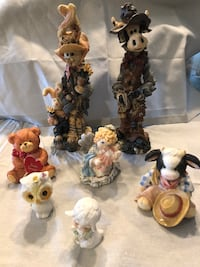 Collectables Figurines $1 each Boyd's bears cow owl lamb mixed ceramic porcelain resin $1 each  Coral Springs, 33065