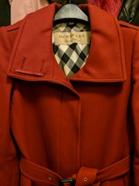 Burberry wool cashmere red trench coat  Edmonton, T5H 3S4
