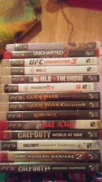 assorted PS3 game case lot Winnipeg, R3E 2Z4