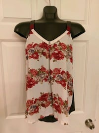 white, red, and green floral spaghetti strap top Henderson, 89012