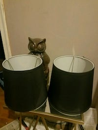 two black-and-white lamp shades 21225, 21225