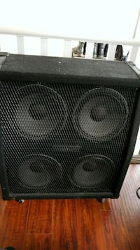 black and gray subwoofer speaker Delta, V4C 3A9