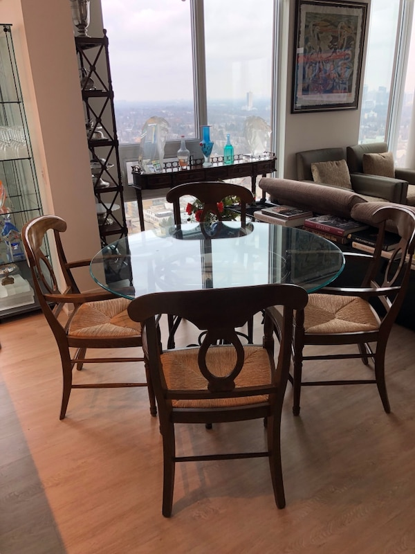 Used Dining Table Set And 5 Chairs Could Be Sold Separately For Sale In Toronto