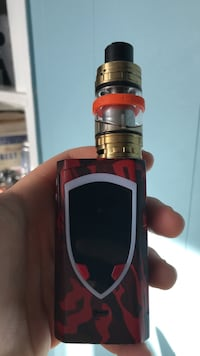 Black and red box mod type vape