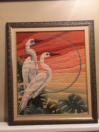 "Vintage Long Stitch Art -  Completed! Professionally matted and framed 20""w x23"" h  Châteauguay, J6J 5H9"