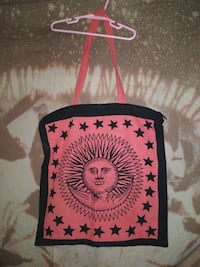 CELESTIAL SUN/MOON/STARS ZIPPER TOTE BAG NEW! $12 Medford, 97504