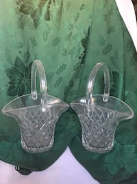 2 pc crystal basket set  Trenton, 08691