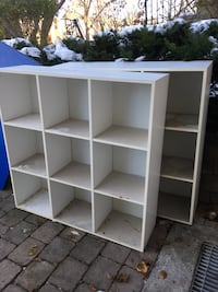 2 sets of cubby shelving