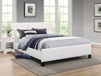 Complete Bed Brand New Pu-Leather Bed Frame with Spring Mattress TORONTO