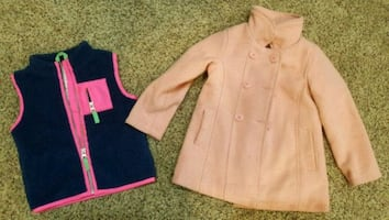 Girl's pea coat and vest