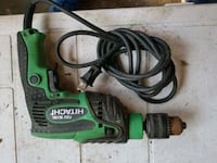 green and black Hitachi corded power drill Edmonton