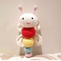 white and red rabbit amigurumi Toronto
