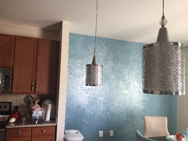 two silver metal pendant lamps shades WILMINGTON