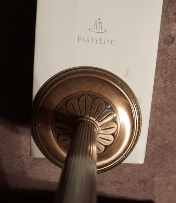 PARTYLITE CANDLE STICK HOLDER.   ASKING $15.00      58f2248d-00af-4c50-8b68-664bc2d7b933