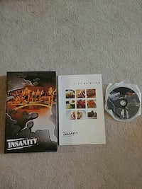 Insanity DVD set with Nutrition guide Homer Glen