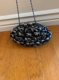 Silver and Black Rose Purse