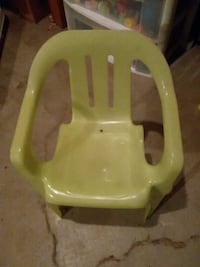 lime green toddler chair plastic
