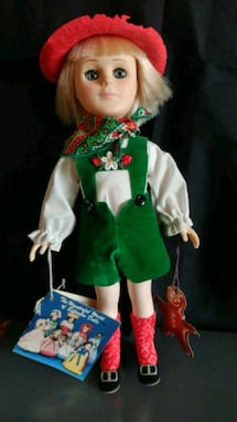 Hansel doll from from EFFANBEE 11 inch tall Hat slightly damaged but t