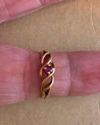 10k yellow gold and ruby ring.  Size 4.  Great for the daughter, girlfriend or woman in your life. Fullerton, 92831