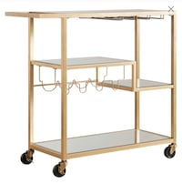 Champagne Gold Finish Kitchen Cart (Unopened) Ellicott City, 21043