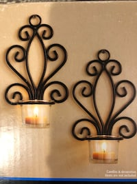 Black Iron Tealight Wall Sconces Aldie, 20105