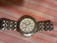 round silver chronograph watch with link bracelet South Gate, 90280