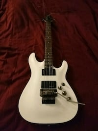 Schecter C-1 FR white electric guitar Los Angeles, 90020