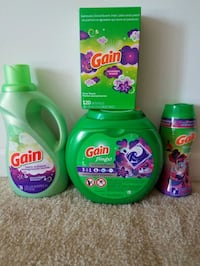 Gain and Tide detergent bottles Rockville