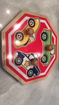 Melissa&Doug wood peg puzzle excellent condition  Laval, H7K 1Y5
