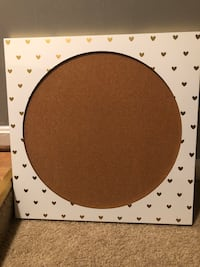 Gold Heart Cork Board Alexandria