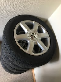4 very good original vw transporter rims with tyres, tyres also very good. Nokian. Hagan, 1481
